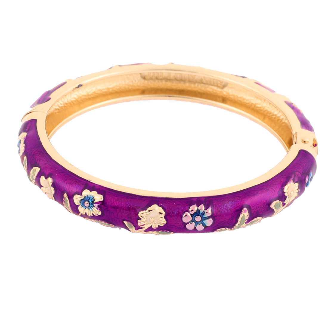 Girl Spring Closure Mini Flower Enamel Bracelet Bangle Party Gift
