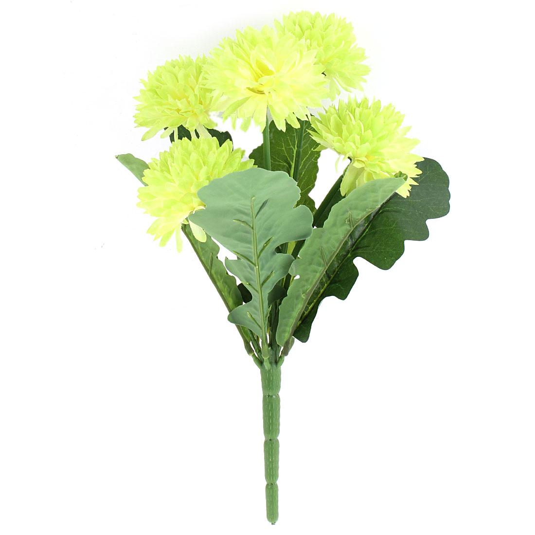 Single Branch Artificial Flower 5 Heads Fake Chrysanthemum Bouquet Wedding Home Decoration