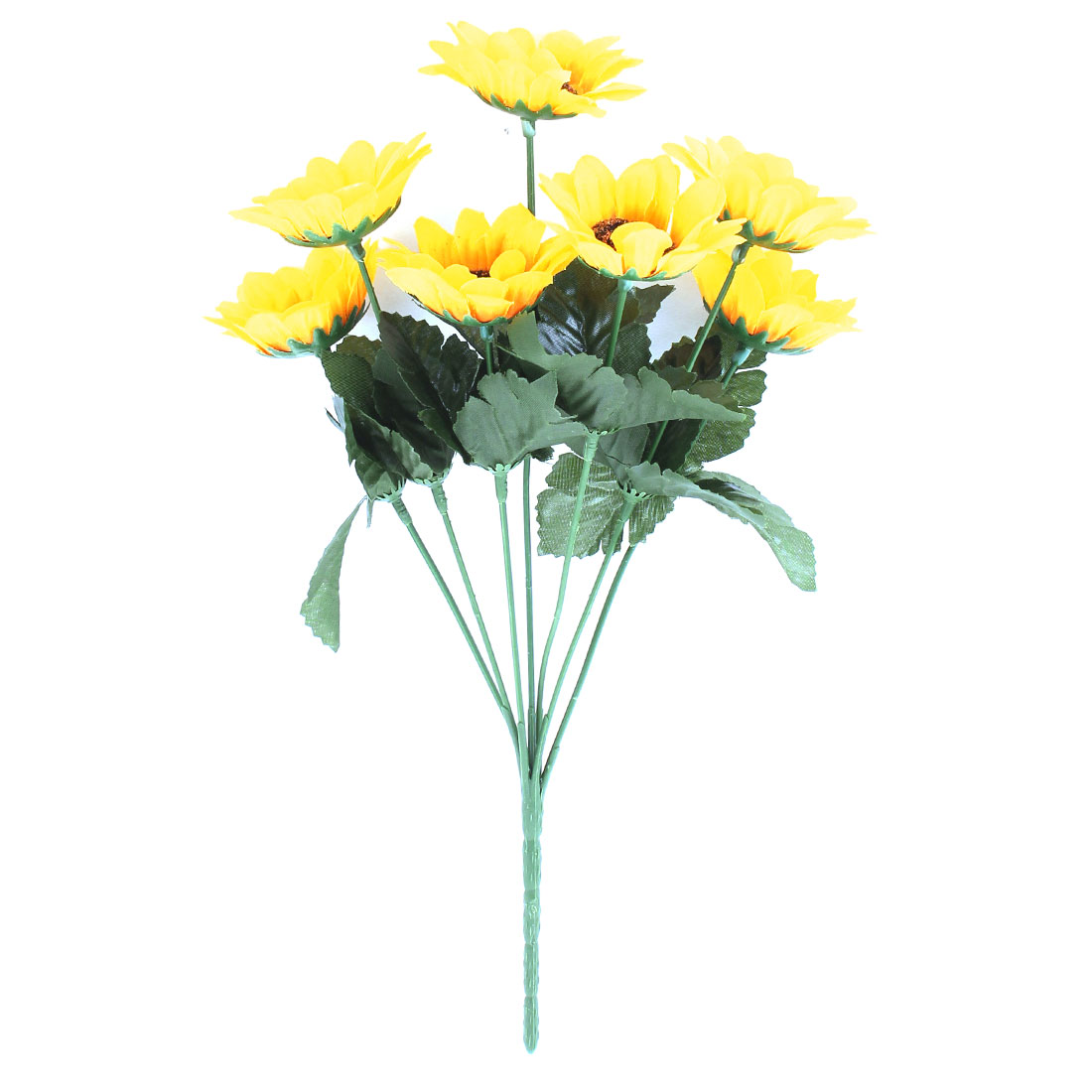 7 Heads Artificial Chrysanthemum Daisy Fake Flower Bouquet Home Decor Yellow