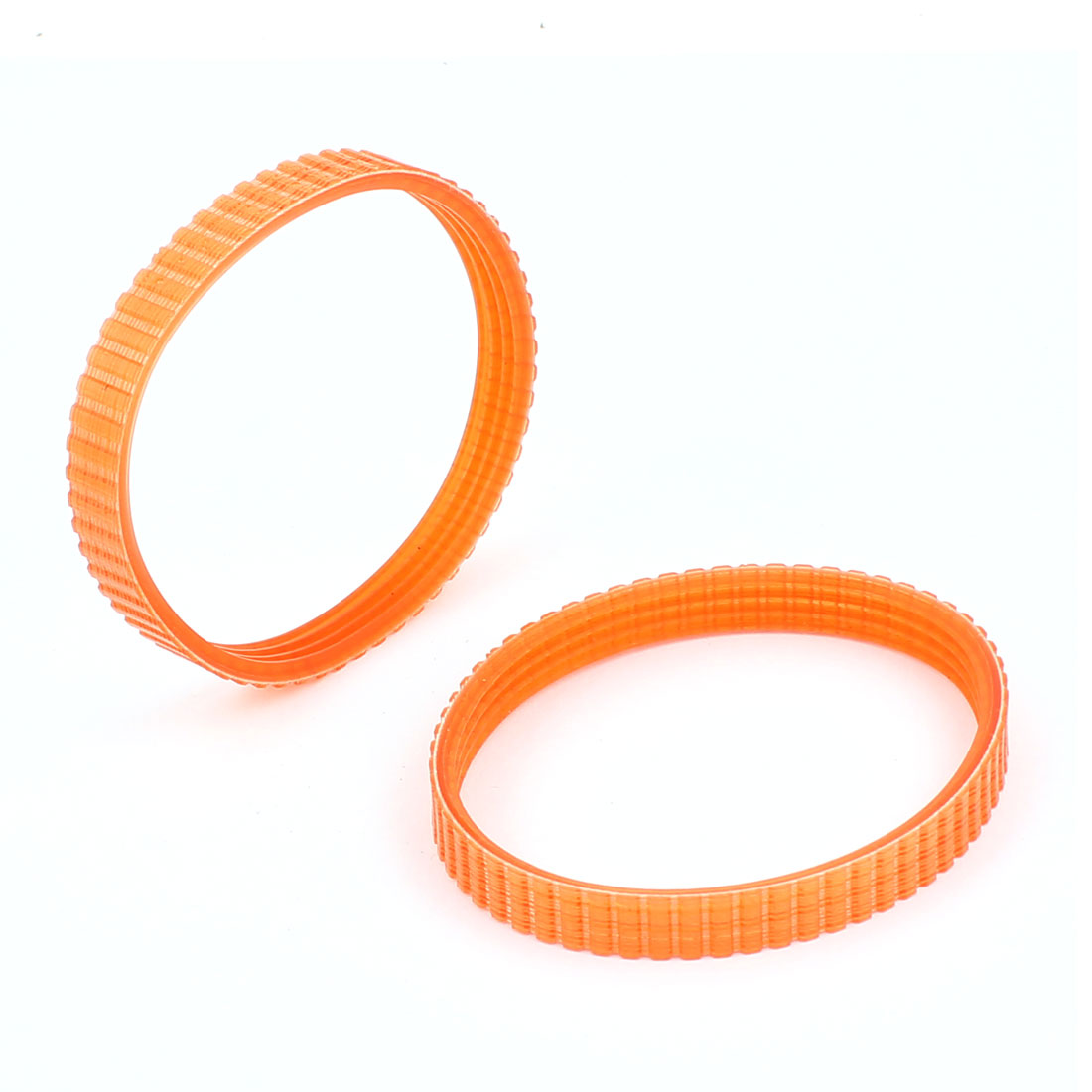 4mm Pitch Single Sided Engine PU Timing Belt Orange 2pcs