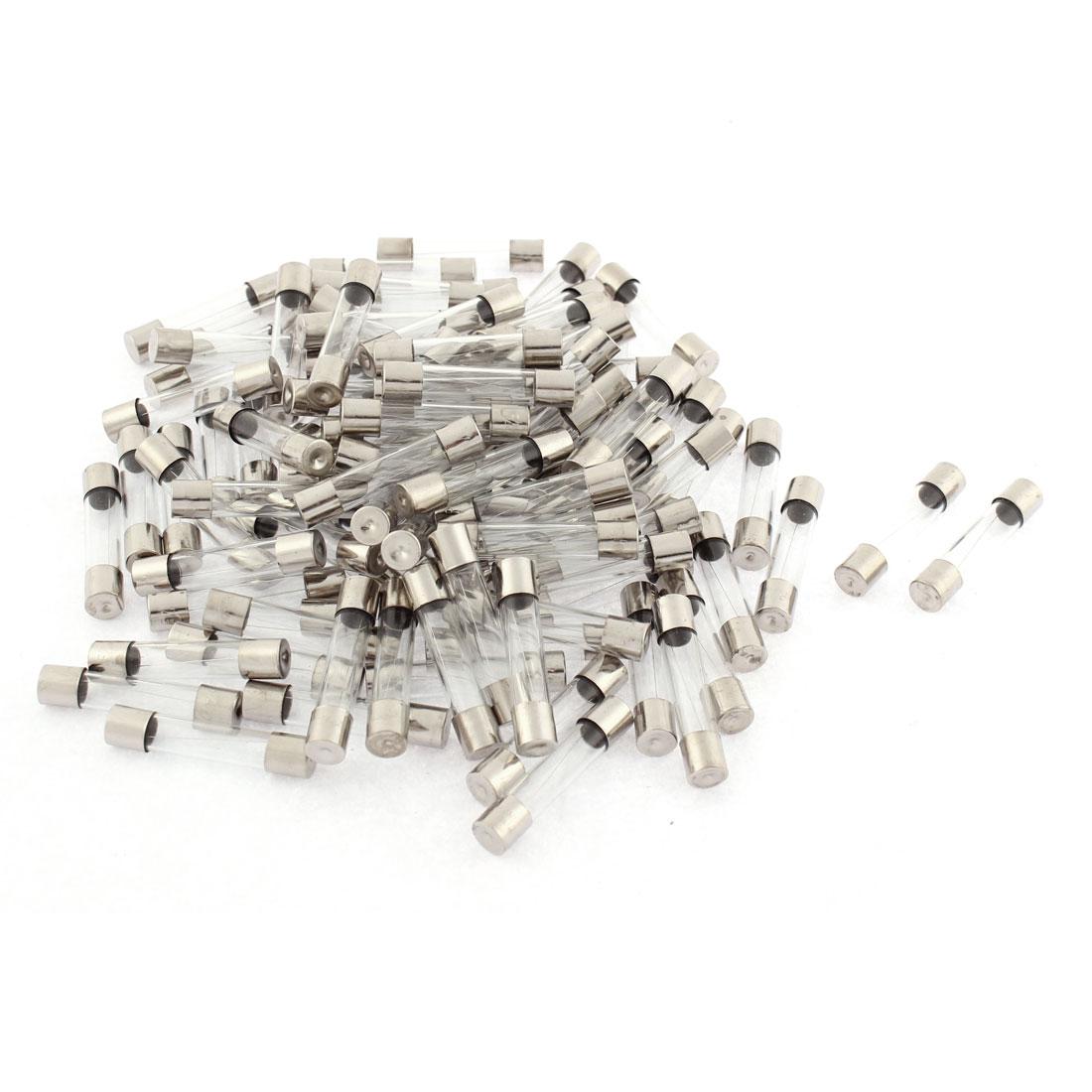 100pcs 6x30mm Quick Blow Glass Tube Fuses Kit Set 125V 2.5A