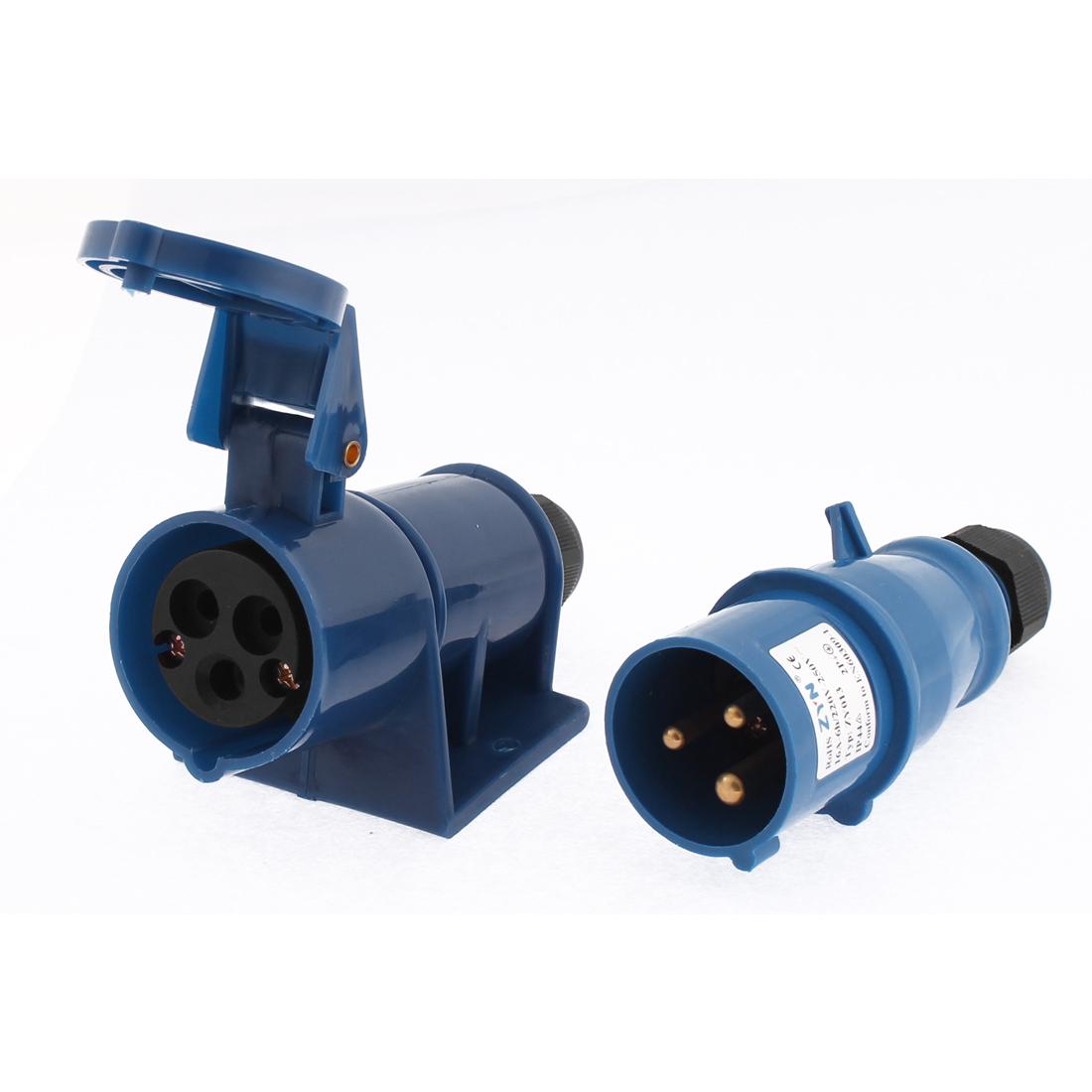 Waterproof Plastic Casing 2P+E Industrial Socket AC 220-250V 16A