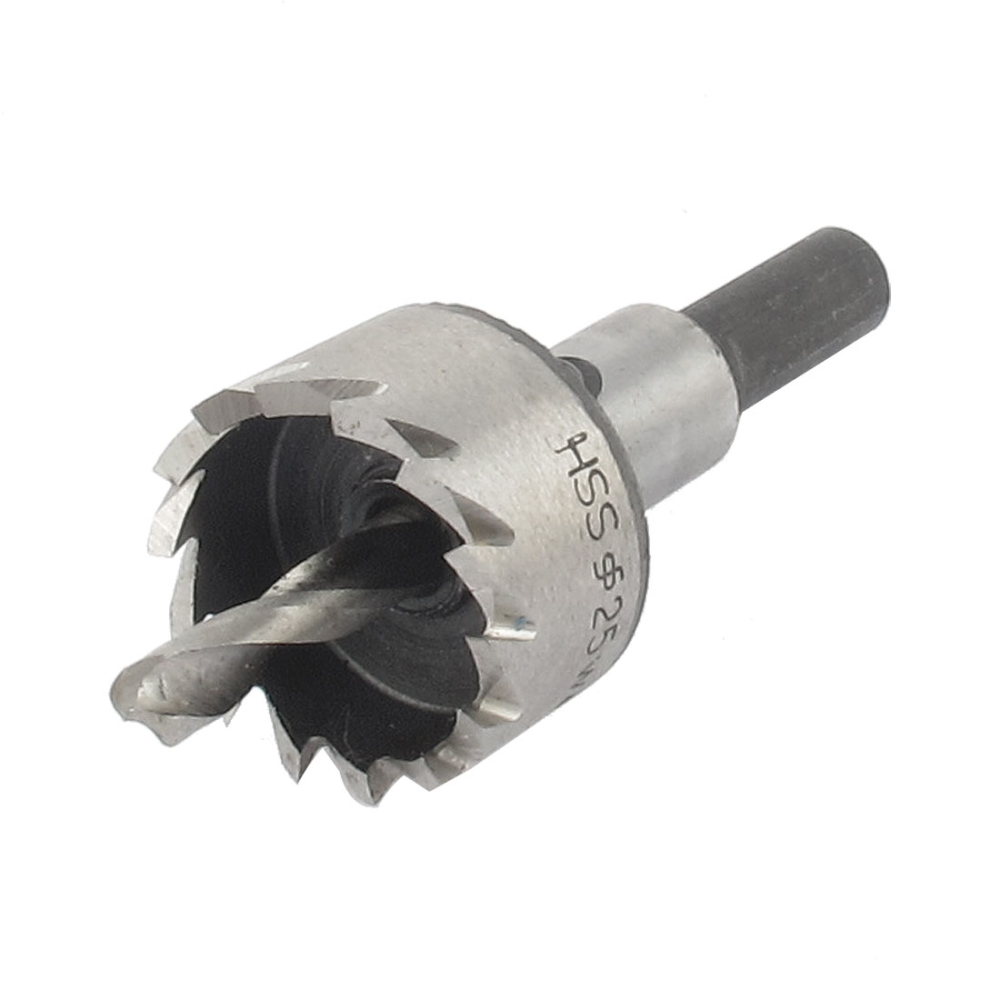 25mm Cutting Dia HSS Hole Saw Cutter Tooth Drill Bit Tool