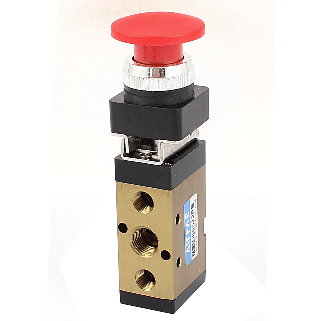 Red Momentary Switch 2 Position 5 Way Pneumatic Mechanical Valve