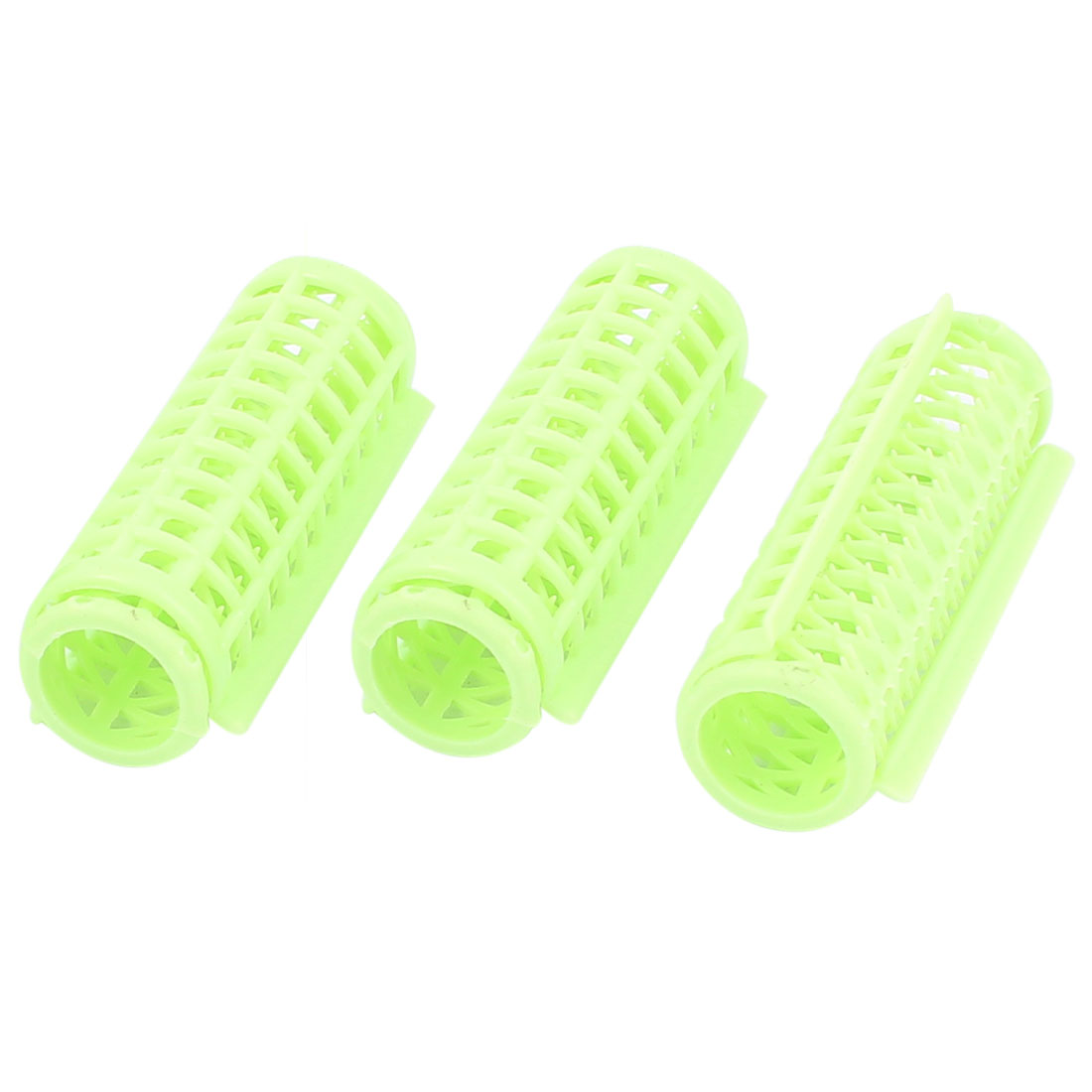 Plastic Green DIY Hair Styling Roller Curlers Clips 3pcs