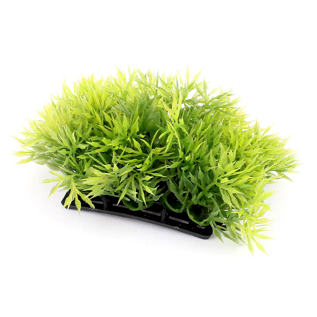 Plastic Artificial Green Grass Plant Aquarium Ornament Decor