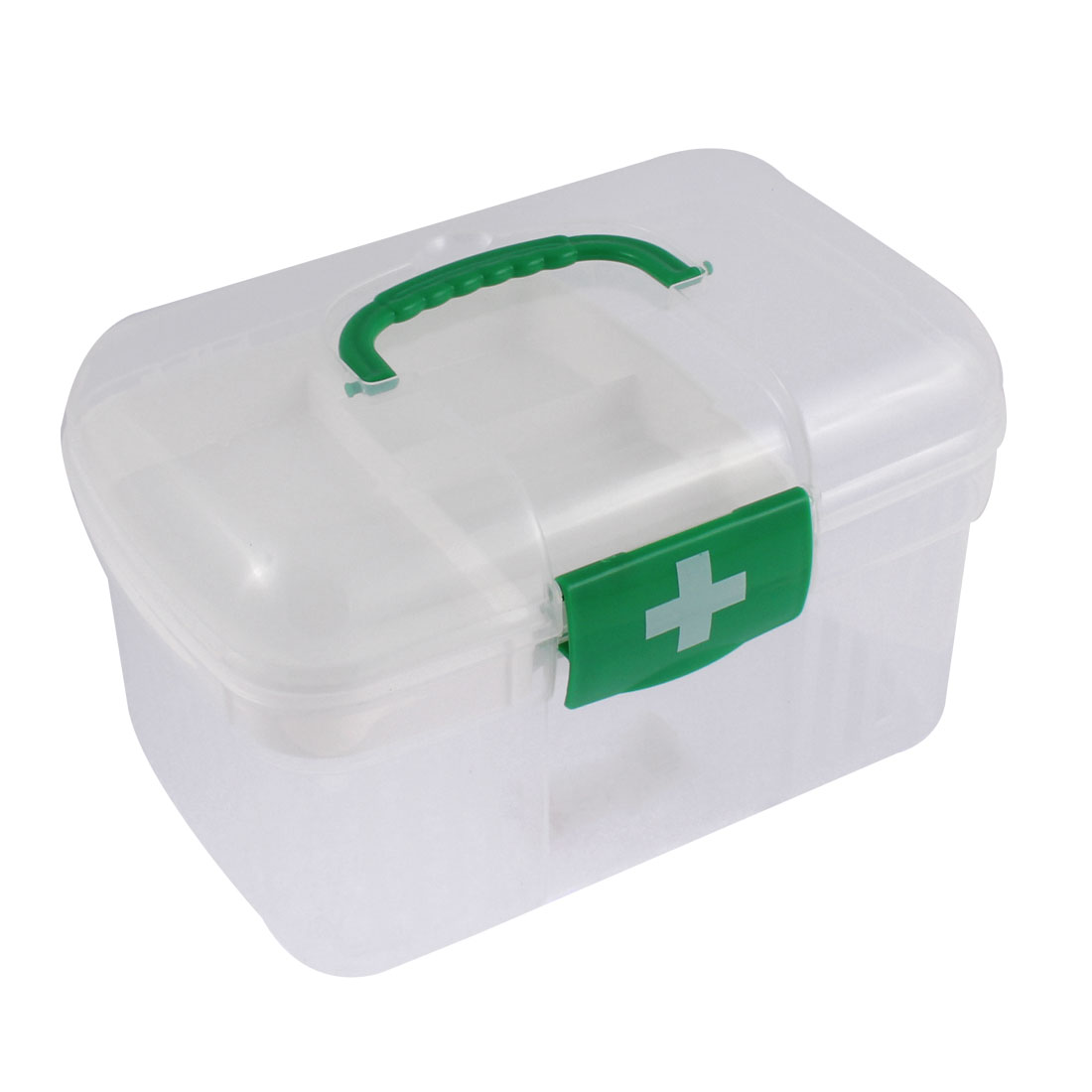 Family First Aid Plastic Medicine Pill Storage Box Drawer Case Organizer