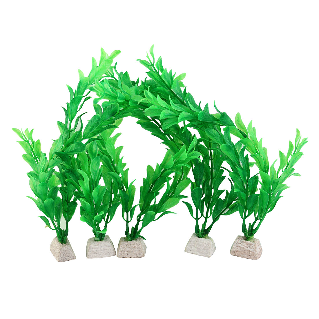 Fish Tank Green Artificial Water Grass Plant Decoration 5pcs