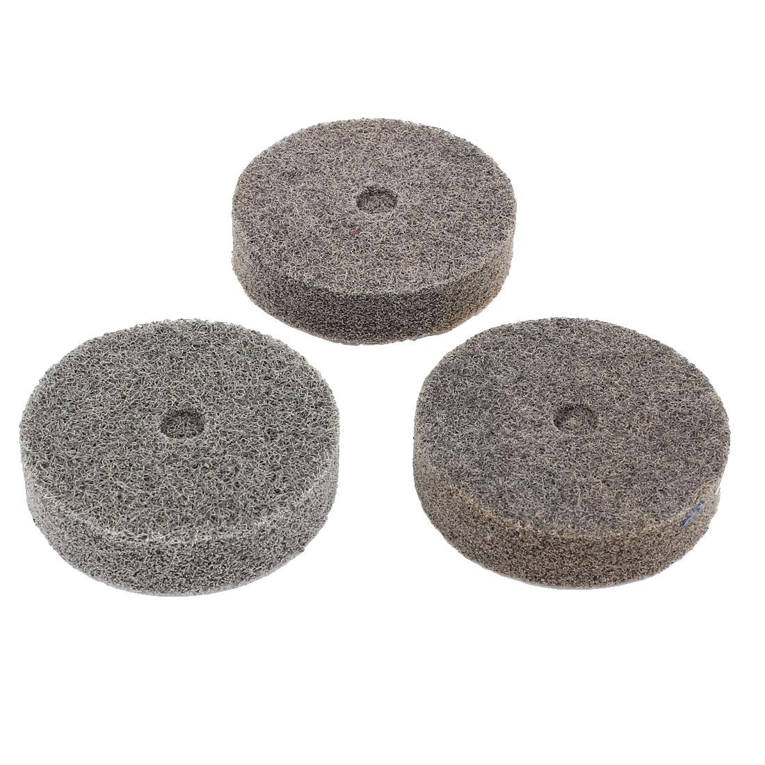 3pcs 180 Grit Gray Nylon Fiber Cylindrical Grinding Wheel Grinder Tool