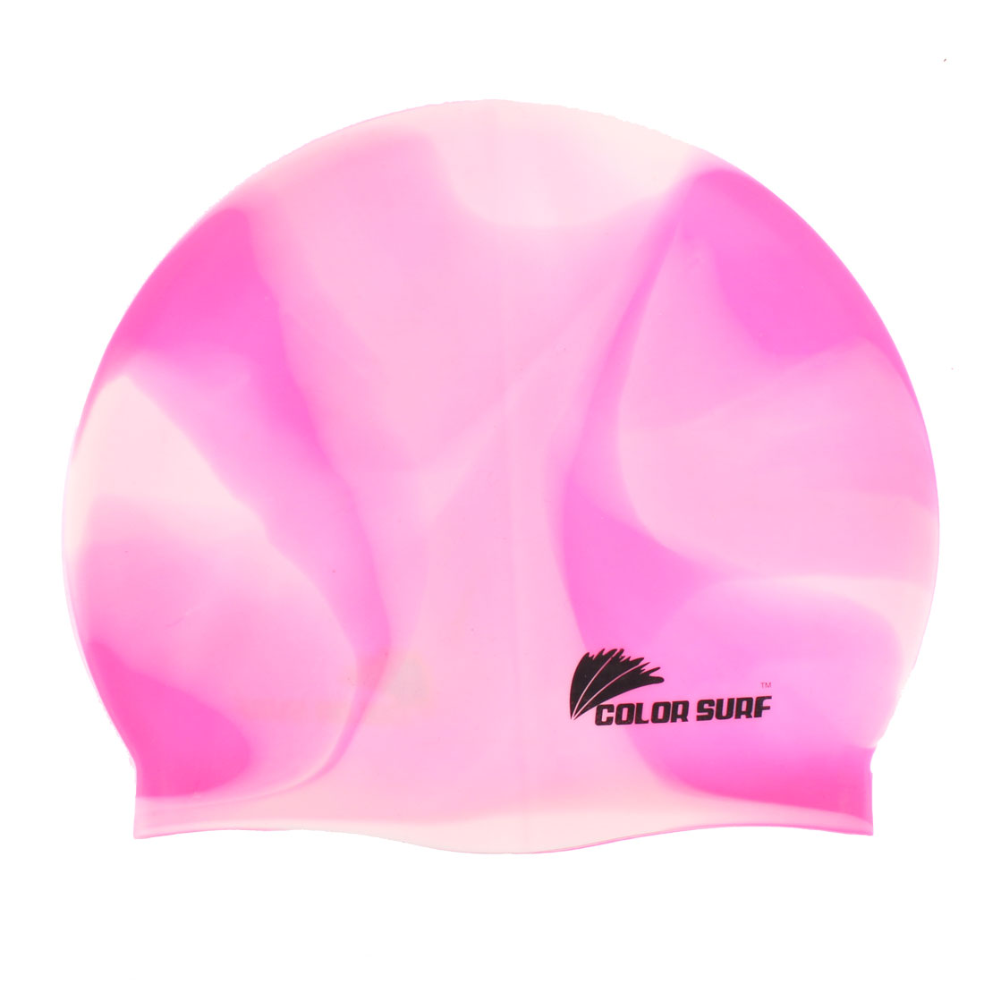 Flexible Elasticity Sports Silicone Swim Cap Swimming Hat Pink White