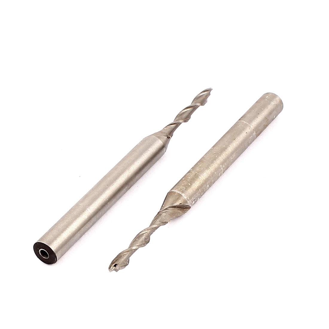 Extended 6mm Straight Shank 2 Flute HSS End Mill Cutter 2pcs