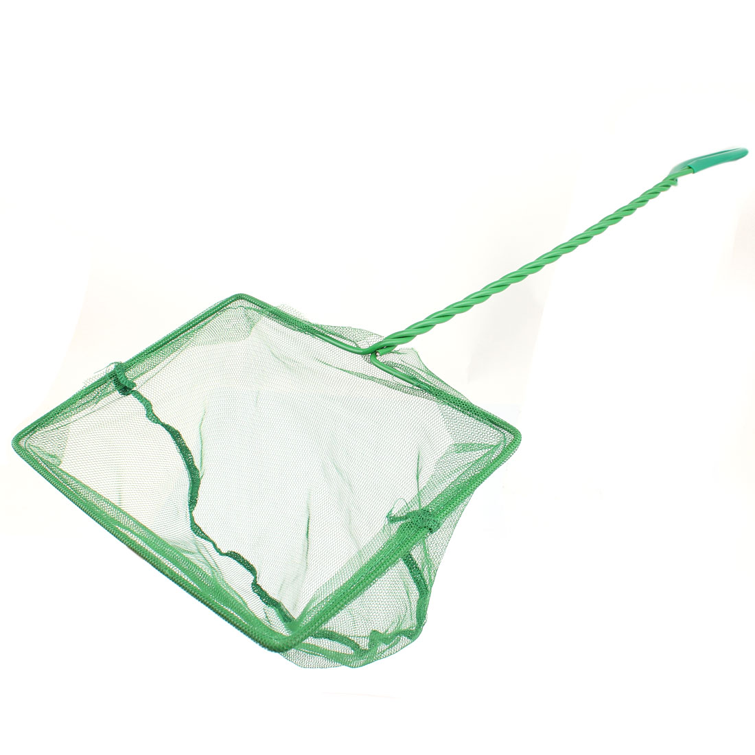 Plastic Twisted Handle Aquarium Fish Shrimp Landing Net Green
