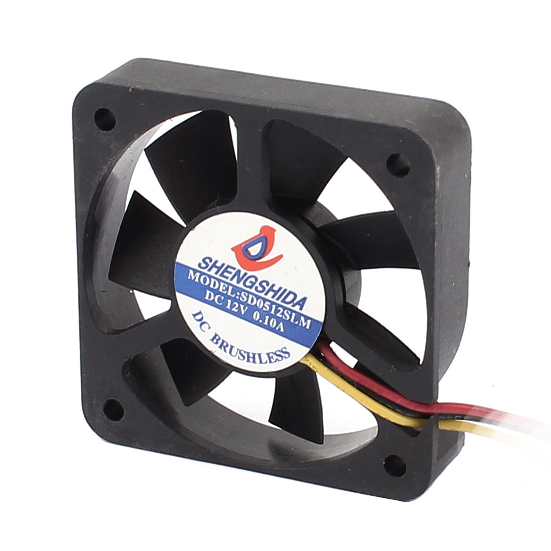DC 12V 0.1A 3 Terminal Connector PC Case CPU Cooler Cooling Fan 50mm x 12mm