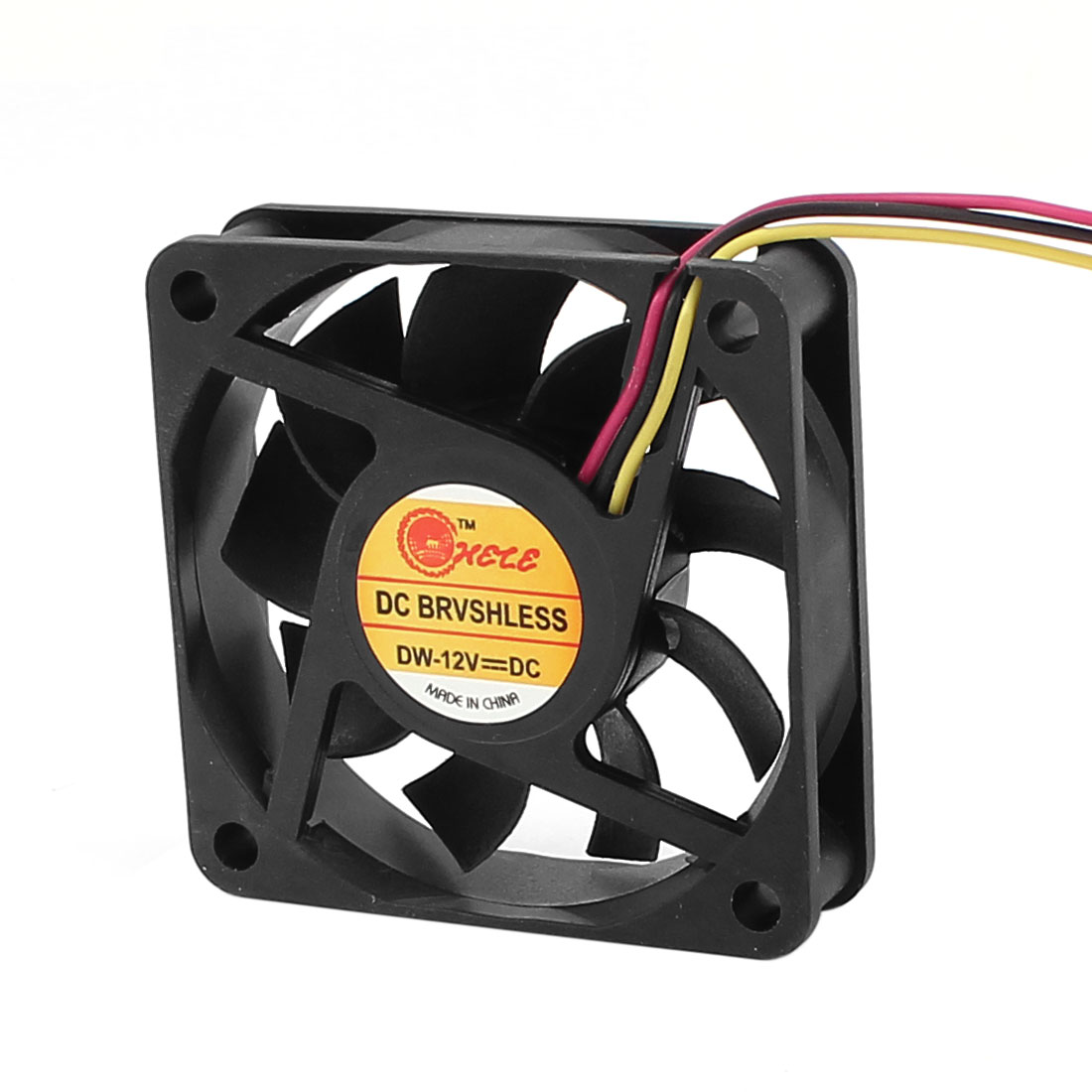 DC 12V 3 Terminal Connector PC Computer Case CPU Cooler Cooling Fan 60mm x 10mm