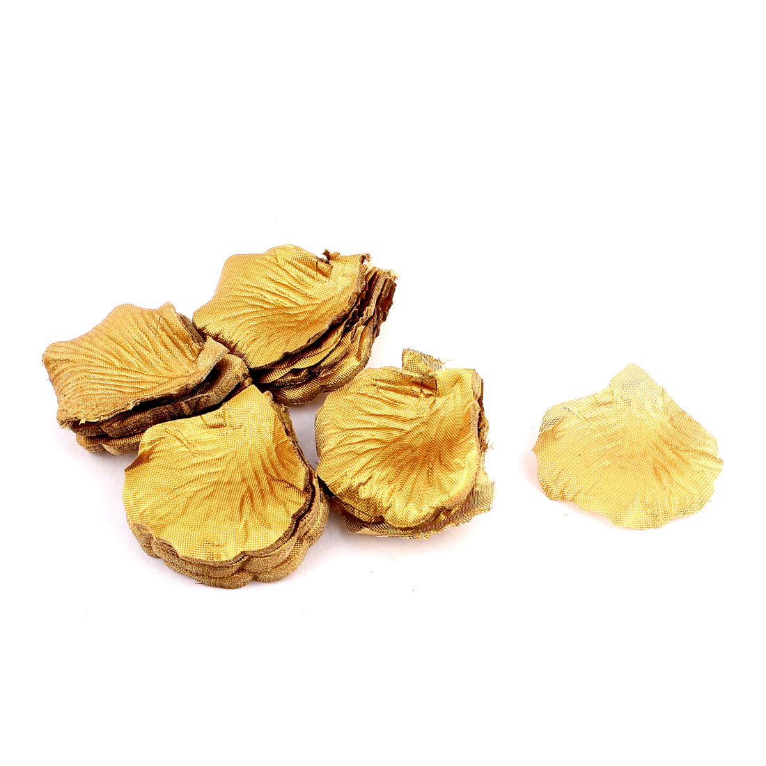 Silk Rose Flower Petals Wedding Party Celebration Decor 2000 Pcs Gold Tone