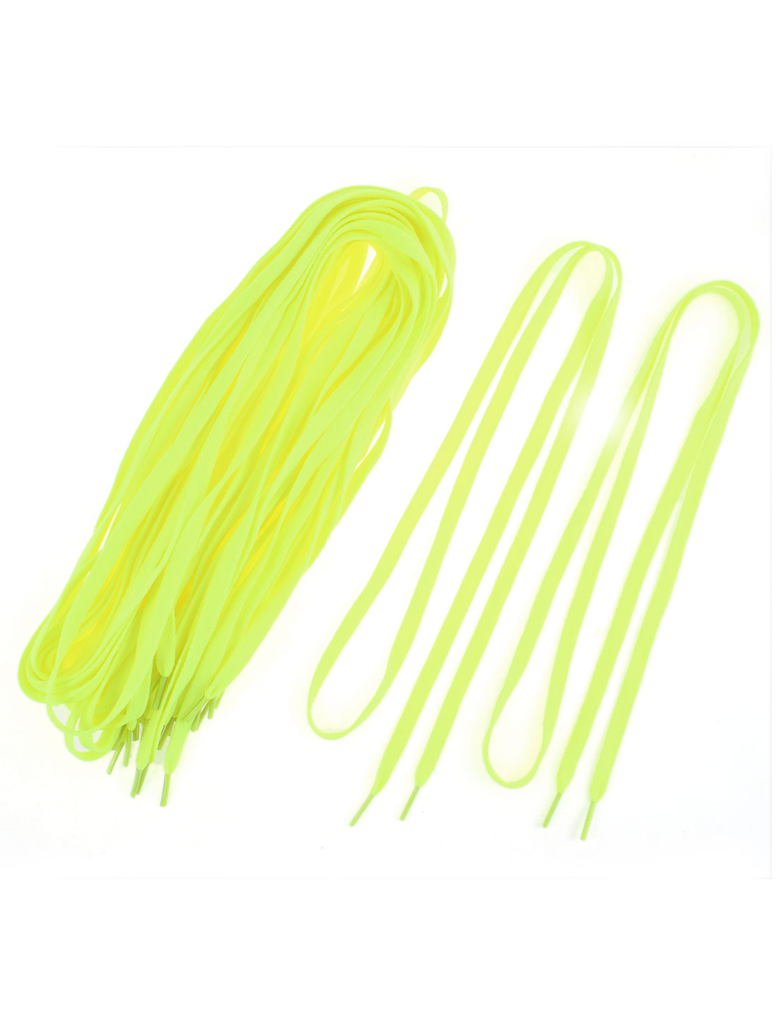 Athletic Sport Shoes Sneaker Flat Bootlaces Shoelaces Strings Yellow 10 Pairs