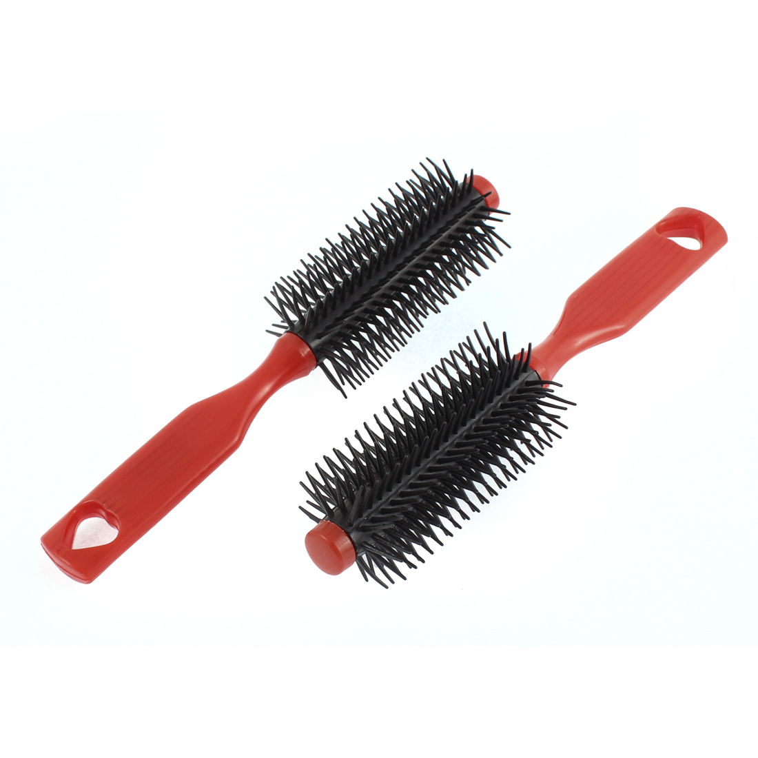 Salon Hairdressing Curly Tool Anti-static Round Hair Brush Comb Red 2pcs
