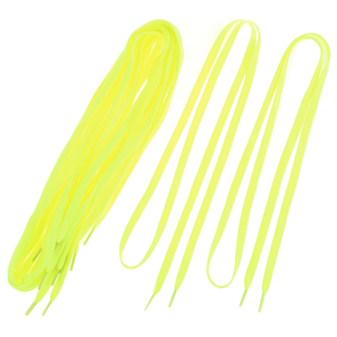 Canvas Sneakers Sports Shoes Flat Shoelaces String Yellow 110cm Length 5 Pairs