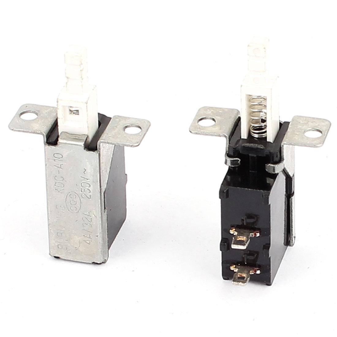 2PCS AC 250V 8A/32A Electric Self Locking SPST Push Button Power Switch