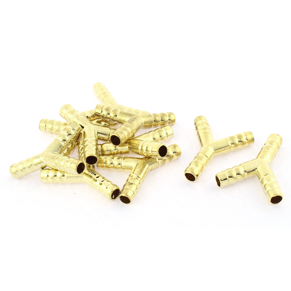 Gas Pipe Y Shaped Hose Barb Fitting Adapter Coupler Connector Joiner 10 Pcs