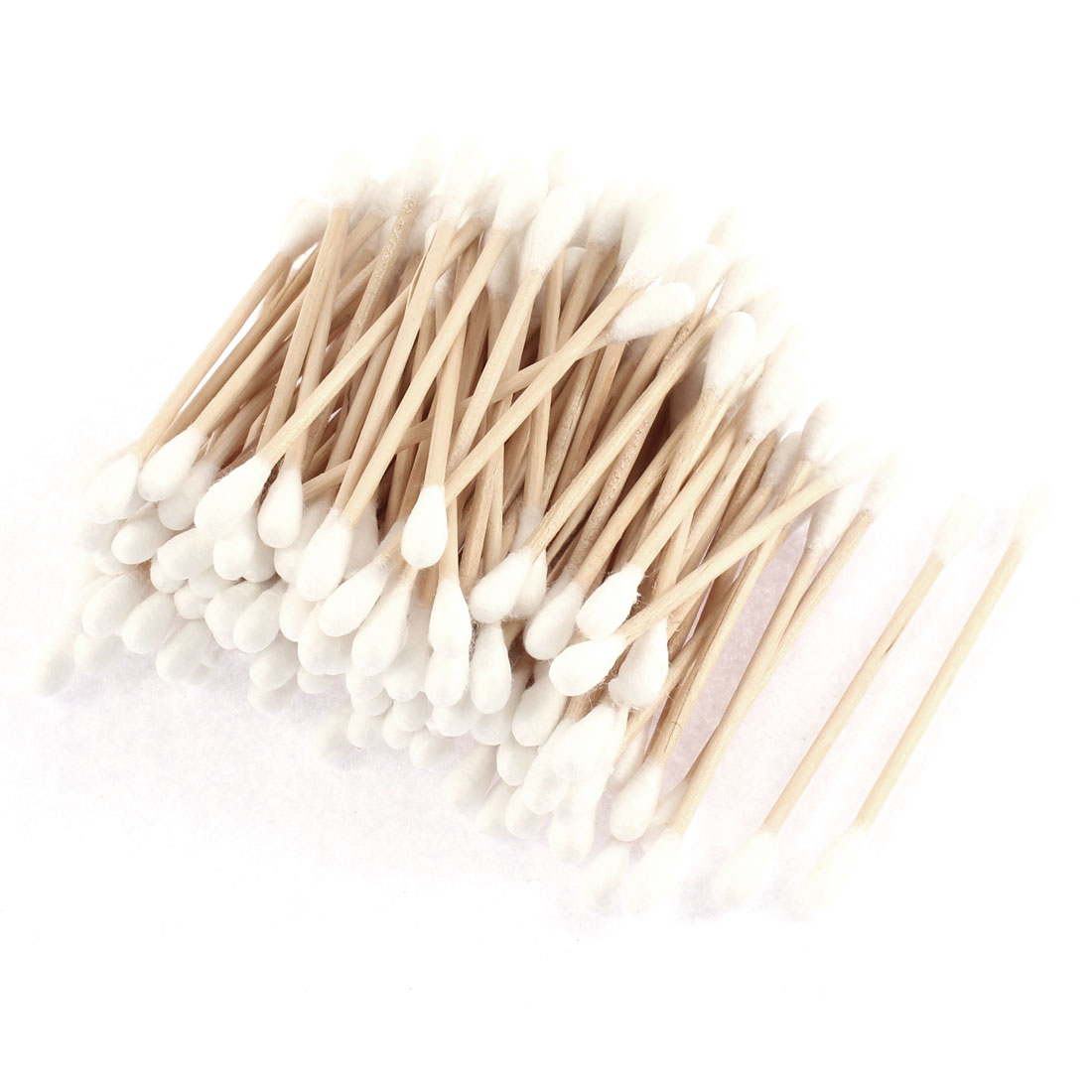 Wood Rod Double Head Ear Picks Cosmetic Removing Tool Cotton Swab Bud 100 Pcs