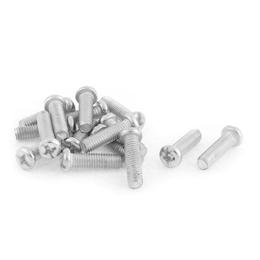 M5 x 20mm Kitchenware Pot Pan Round Head Mounting Phillips Screws 15 Pcs