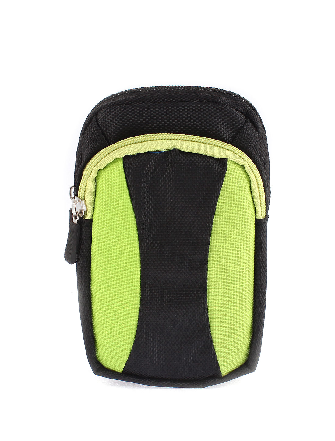 Unisex Zipper Closure Coin Phone Holder Waist Belt Pack Bag Wallet Green