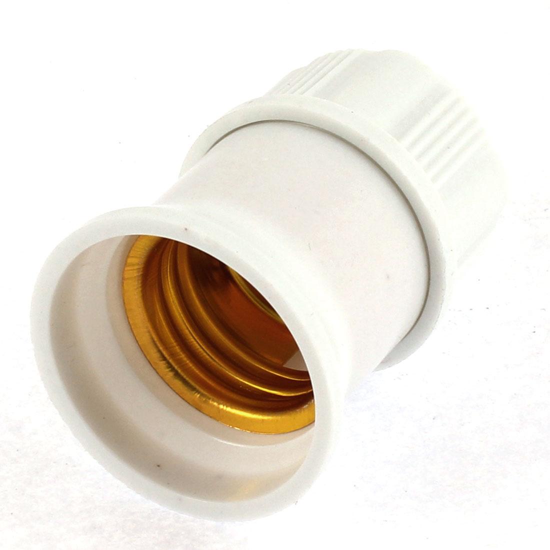AC 250V 6A E27 Screw Socket Pendant Ceiling Light Lamp Bulb Holder White