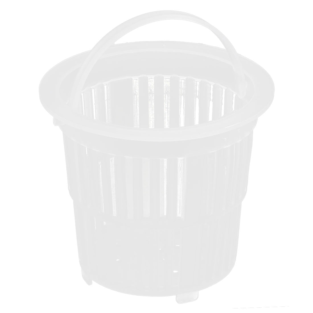 Sink Basin Plastic Drainer Strainer Waste Stopper Filter Basket Off White