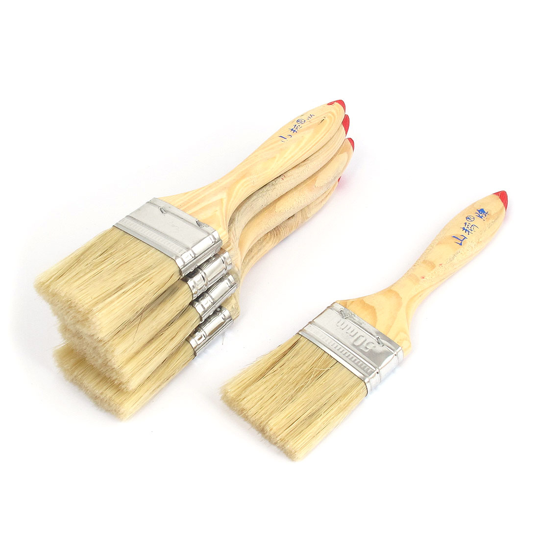 "2"" Width Soft Bristle Painting Drawing Oil Paint Brush Pen 5pcs"