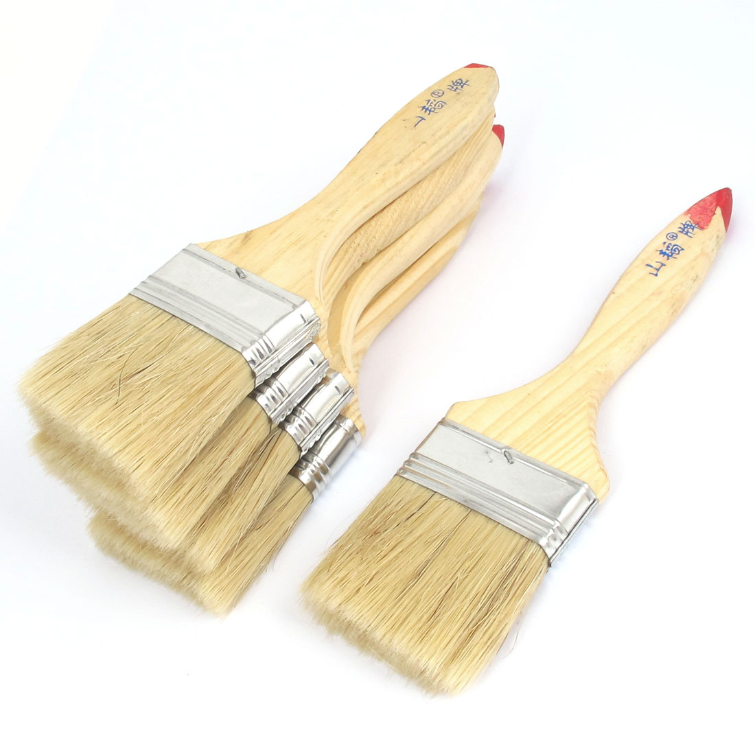 "2.5"" Width Soft Bristle Painting Drawing Oil Paint Brush Pen 5pcs"