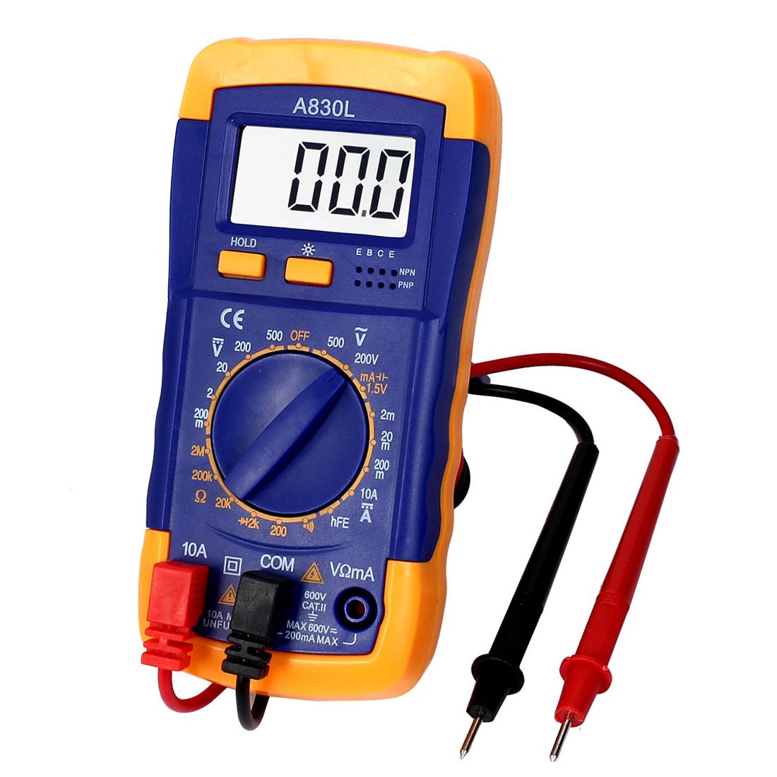 A830L Digital LCD Multimeter AC DC Voltmeter Ammeter Ohmmeter Tester