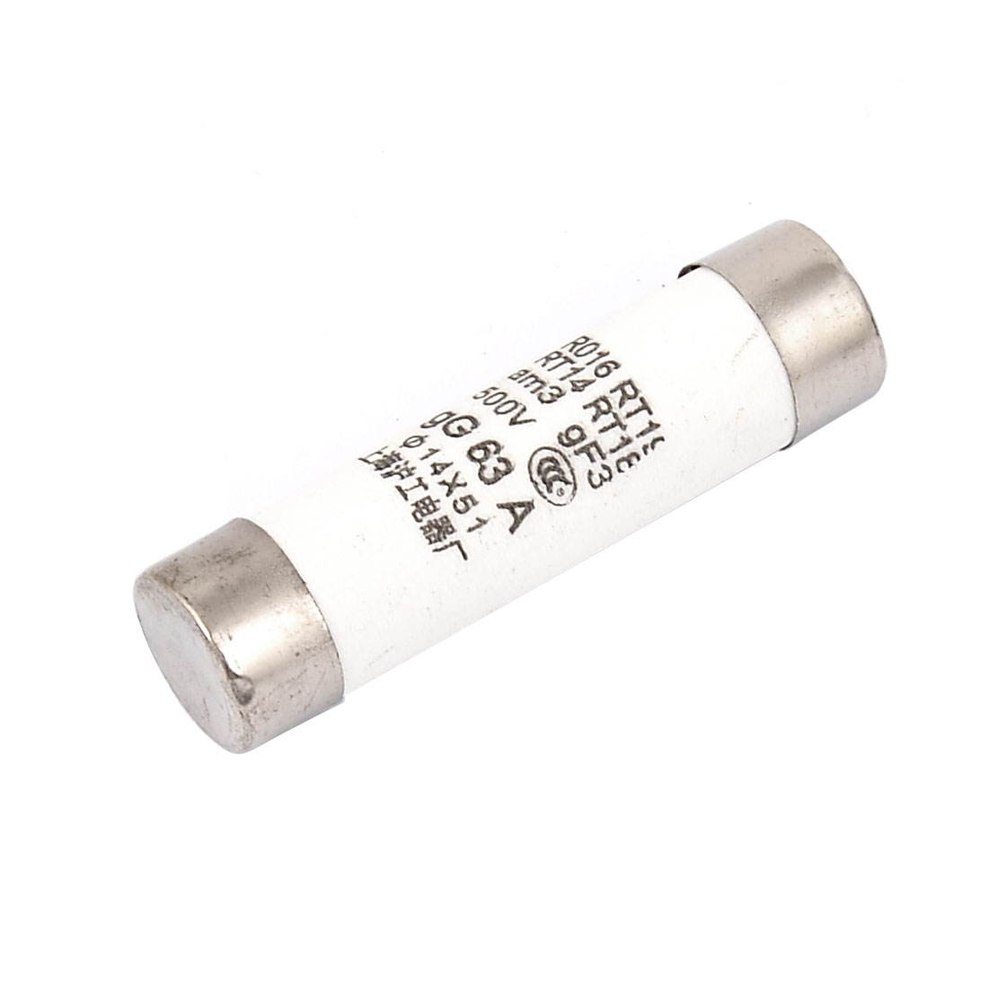 RO16 RT18 RT14 RT19 Ceramic Cylindrical Tube Fuse 63A 500V 14mmx51mm