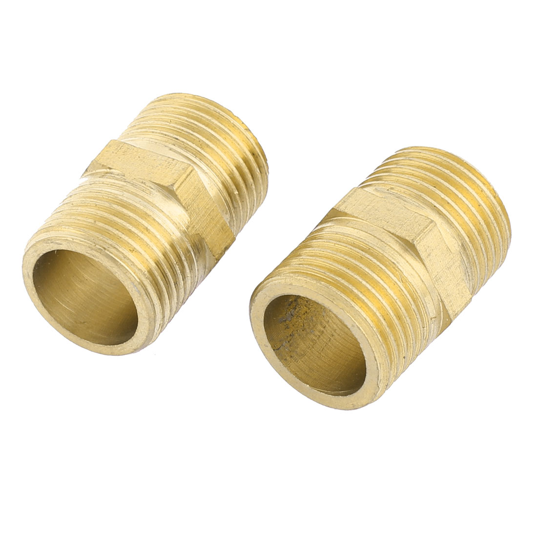 1/2BSP Male Thread Straight Pneumatic Brass Quick Coupler 2pcs