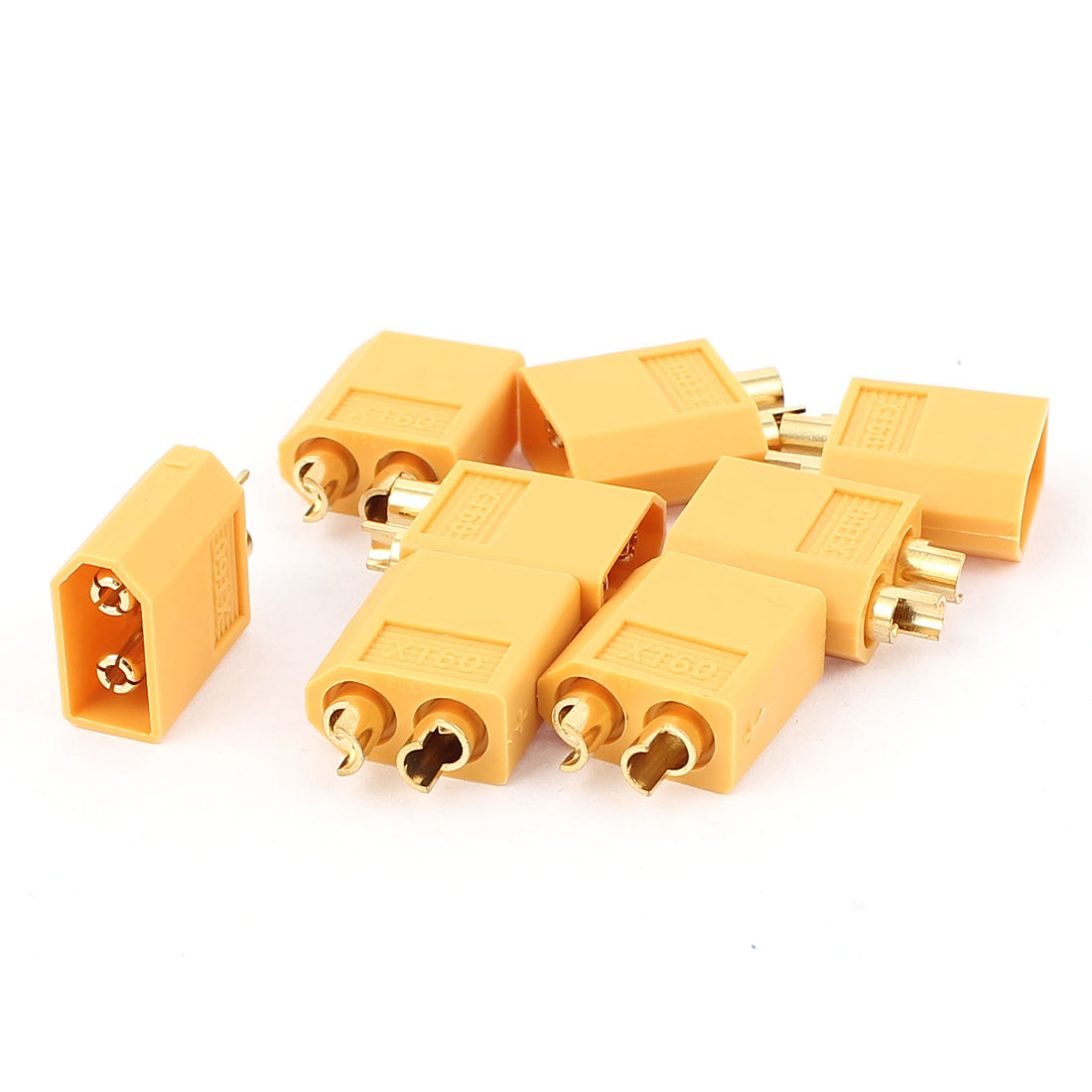 DIY Airplane Aircraft RC Model Battery XT60 Male Connector Yellow 8Pcs