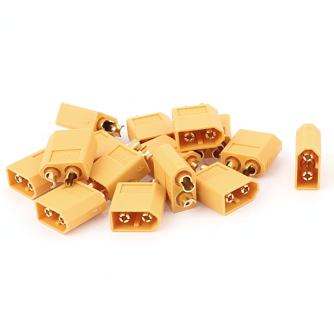 DIY Airplane Aircraft RC Model Battery XT60 Male Plug Connector Yellow 15Pcs