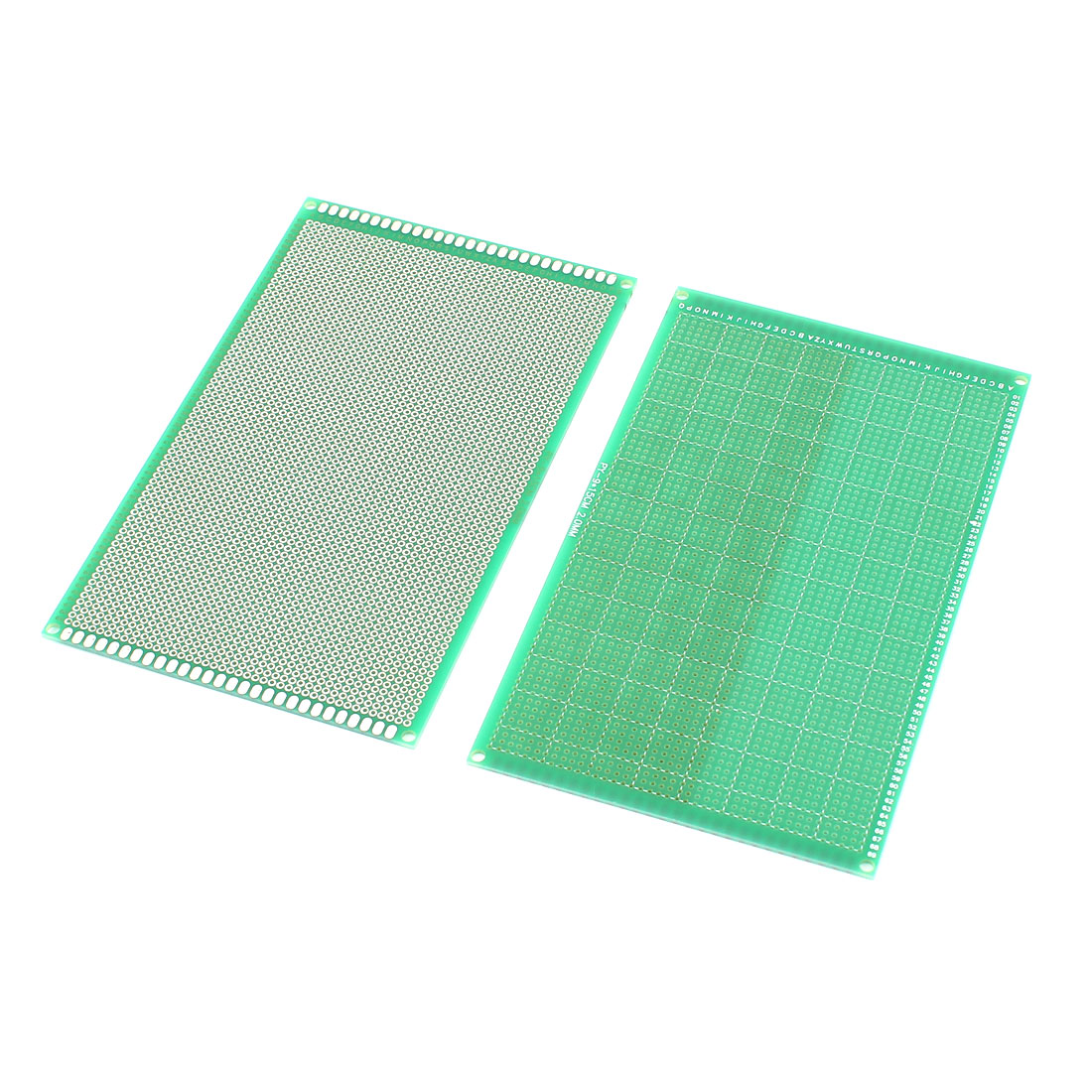 15cm x 9cm Single Side Universal PCB Prototyping Circuit Board Green 2Pcs