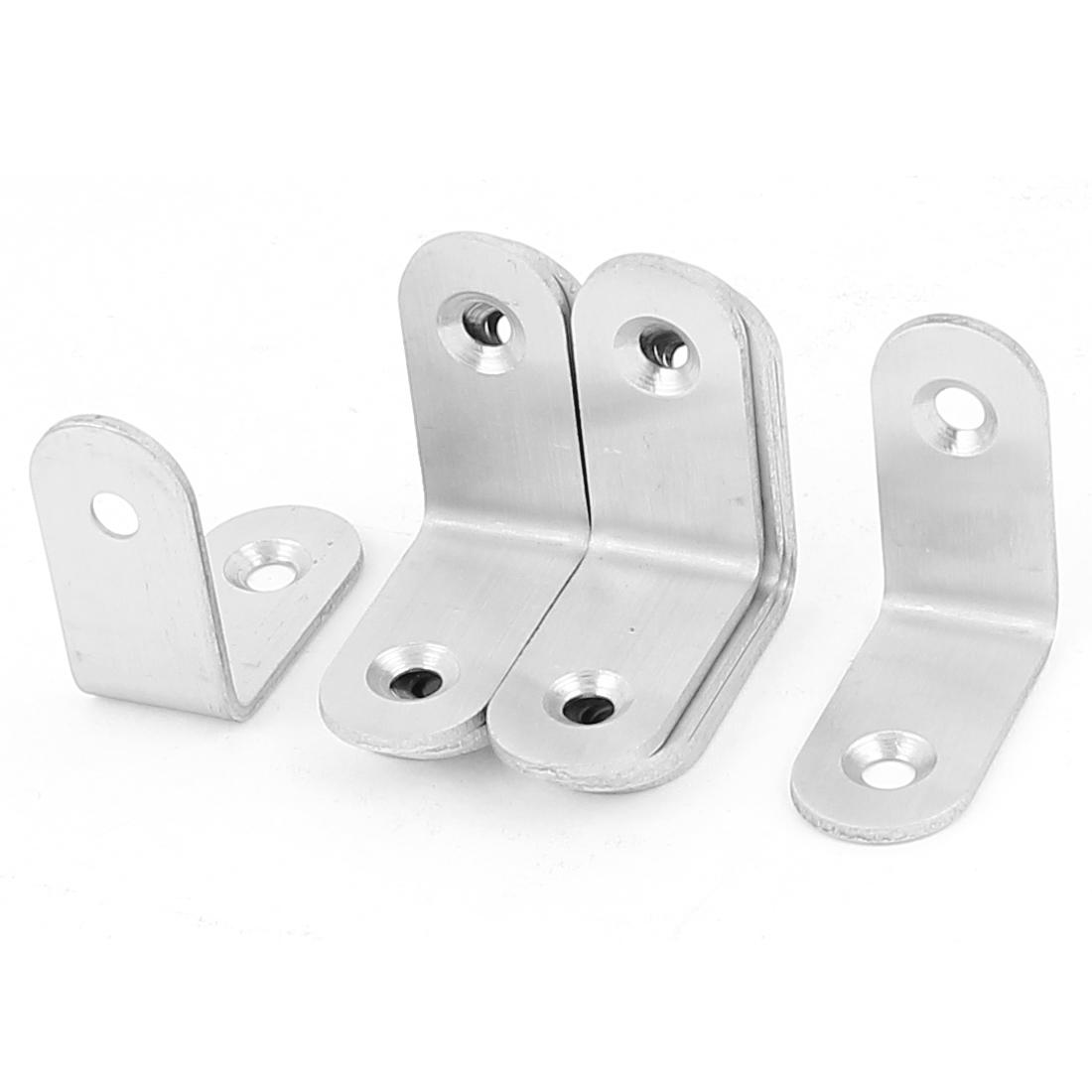 30mm x 30mm Shelf Support Corner Brace Joint Right Angle Metal Bracket 10Pcs