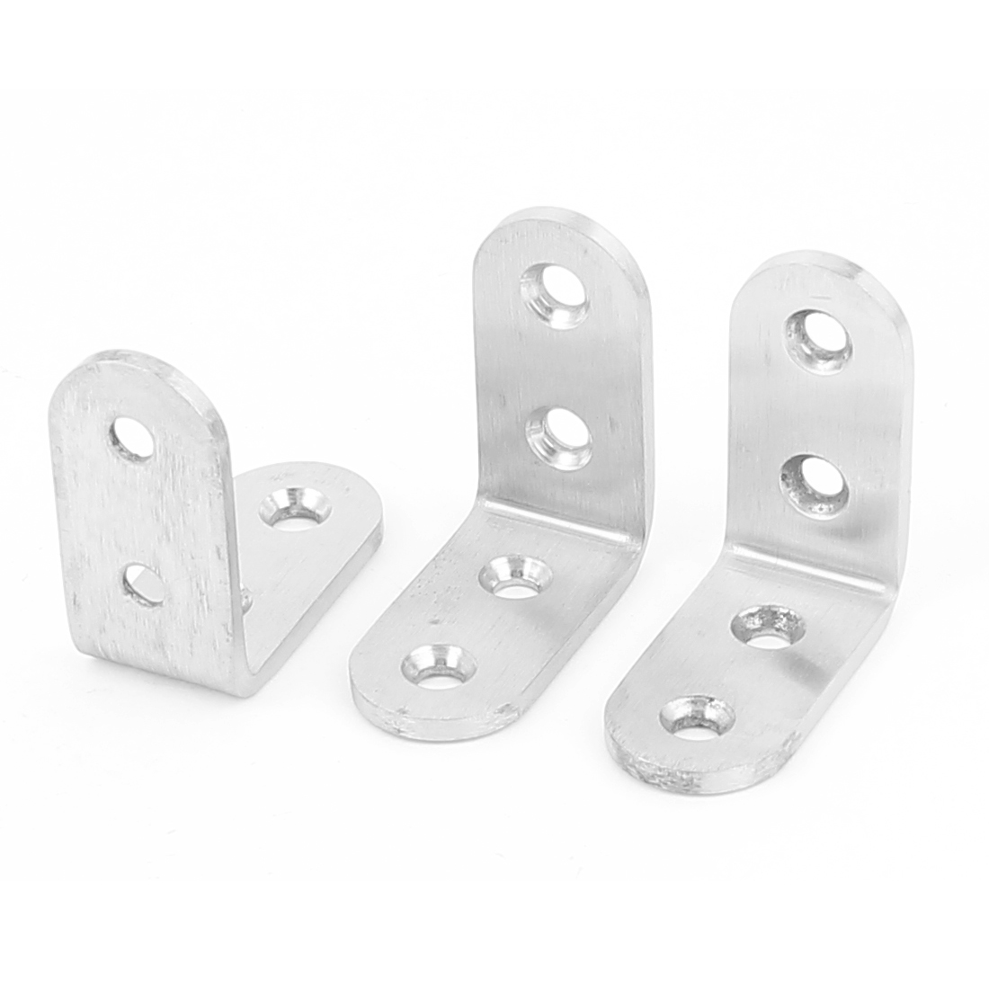 3Pcs L Shape Shelf Support Corner Brace Joint Metal Angle Bracket 40mm x 40mm