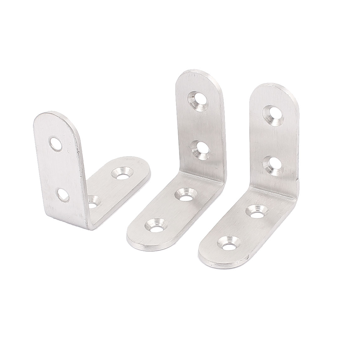 3Pcs L Shape Shelf Support Corner Brace Joint Metal Angle Bracket 50mm x 50mm
