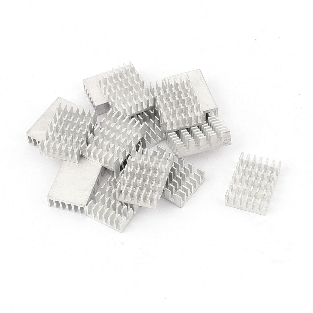 20mm x 14mm x 6mm LED Light Cooling Power Transistor Heatsink Cooler Silver Tone 16Pcs