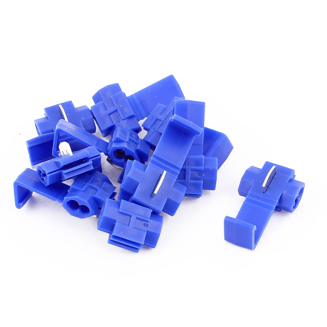 Car 2.5mm2 Cable Clip Solderless Wire Quick Splice Connector Blue 10Pcs