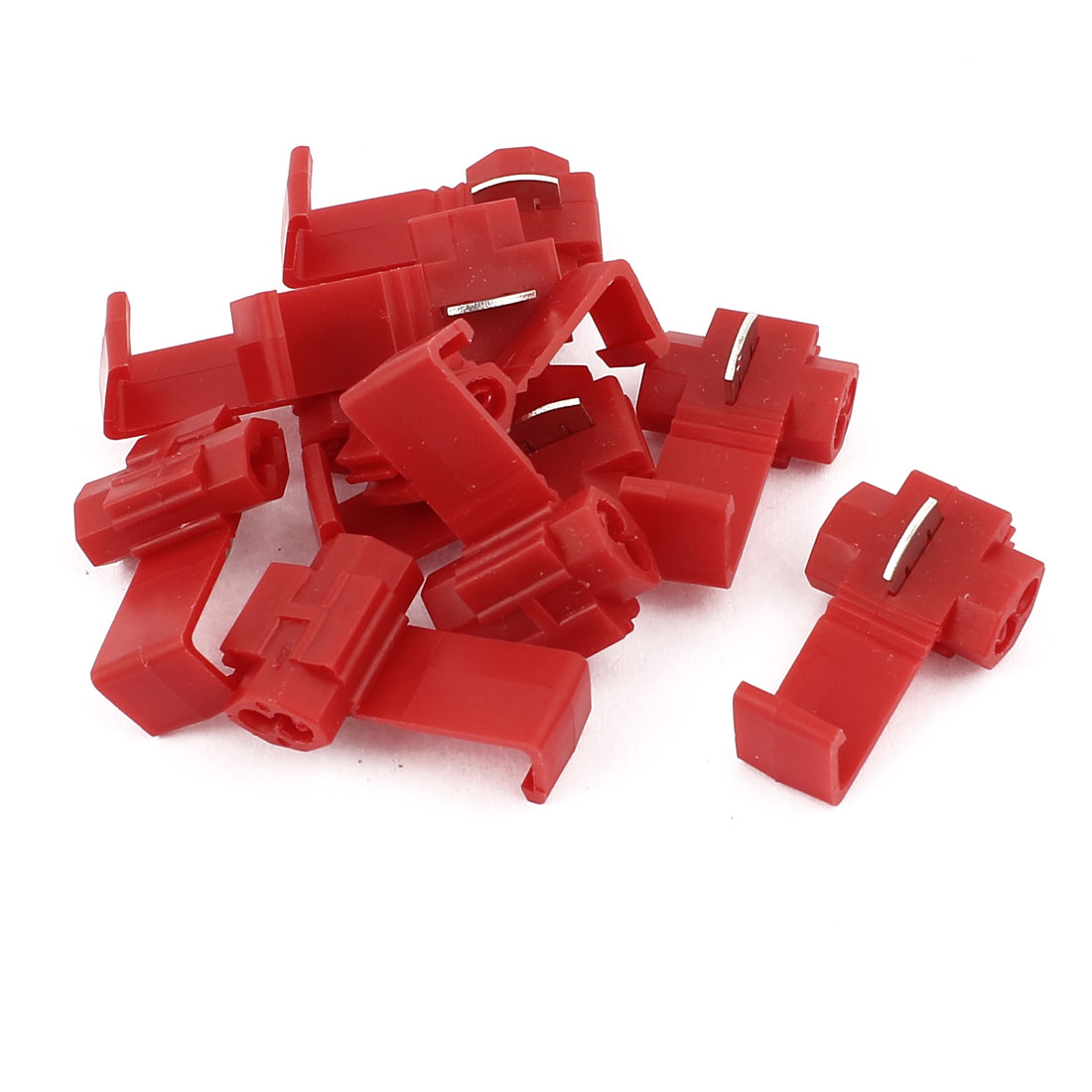 Car 2.5mm2 Cable Clip Solderless Wire Quick Splice Connector Red 10Pcs