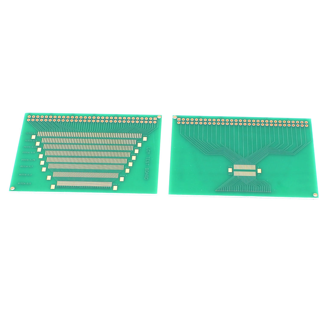 82mm x 57mm P0.5-P1.0mm Pitch LCD Display Module LCM Test Circuit Board Green 2Pcs