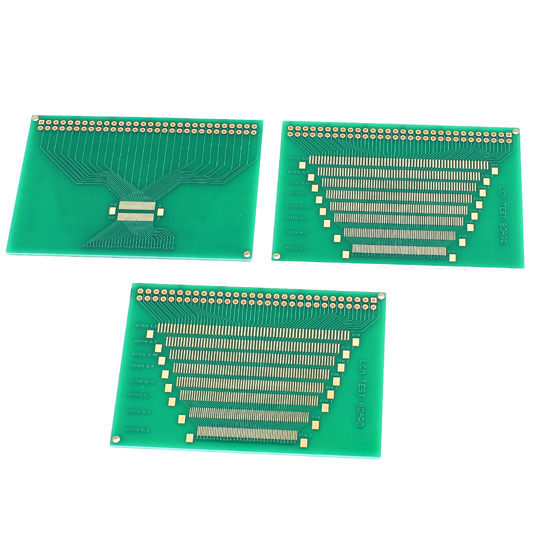 82mm x 57mm P0.5-P1.0mm Pitch LCD Display Module LCM Test Circuit Board Green 3Pcs