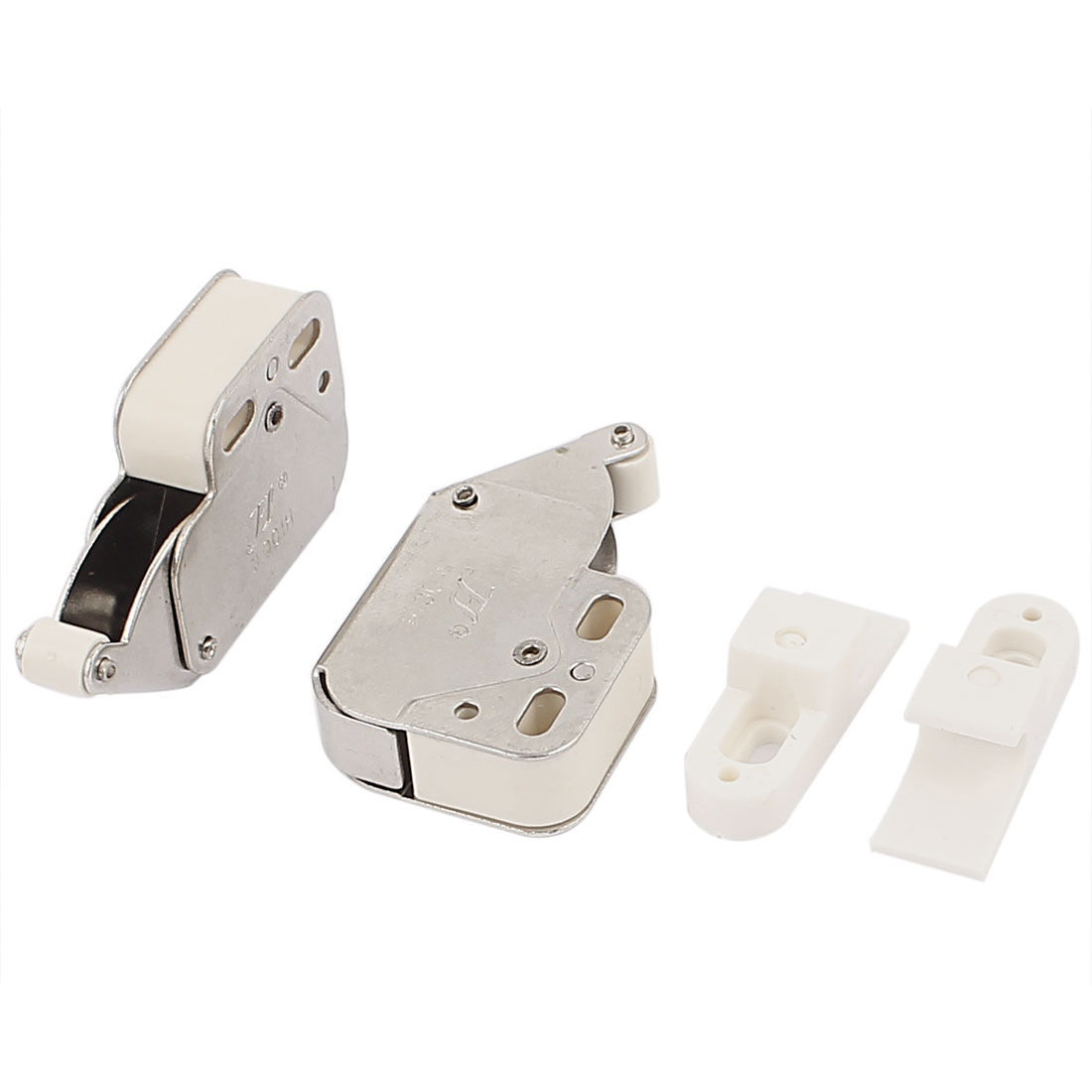 Spring Loaded Kitchen Cabinet Cupboard Door Push Catch Latch Lock 2Pcs