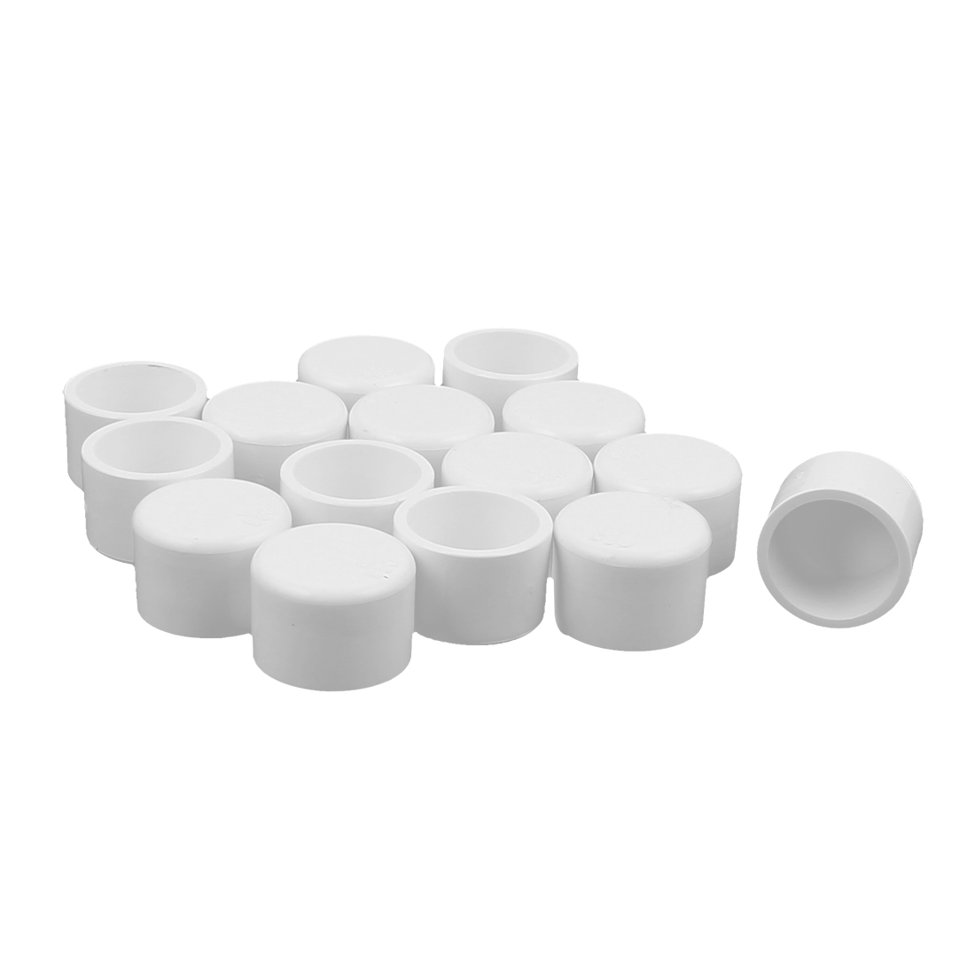15Pcs Round Water Tubing Tube Pipe Fitting End Cap Cover White 25mm Inner Dia