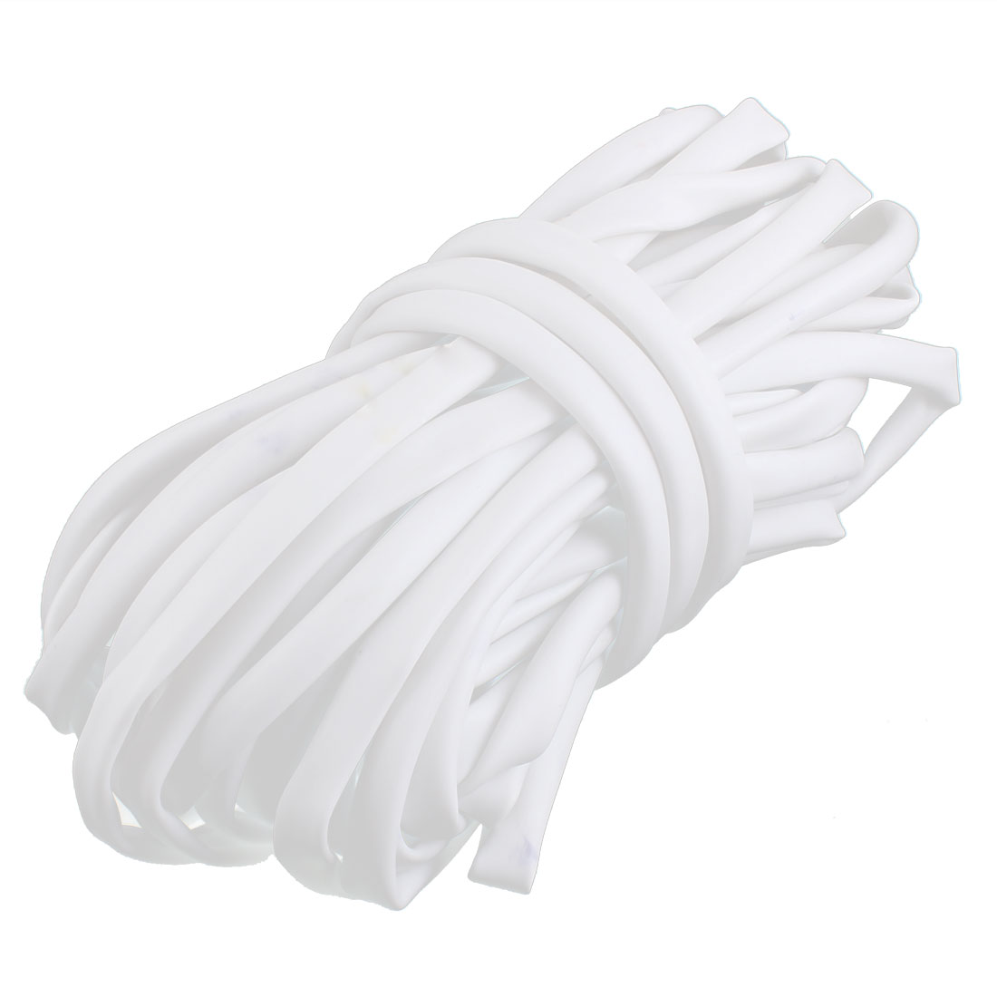 15M Long 6mm Inner Dia PVC Tube Sleeve White for Wire Marking Printing Machine