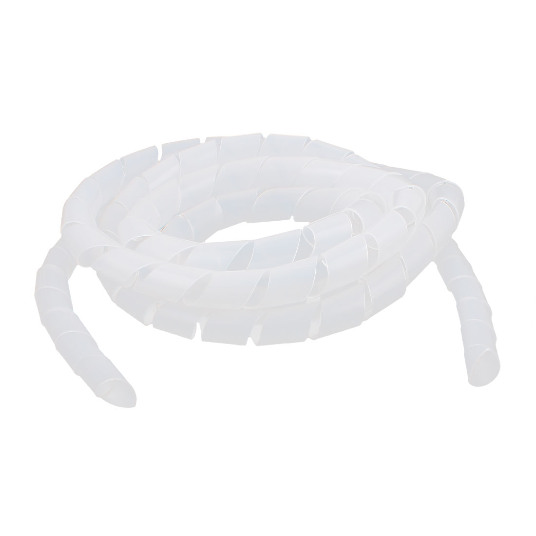3 Meter Length 18mm Dia Cable Wire Binding Organizer Manager Spiral Wrap Band White