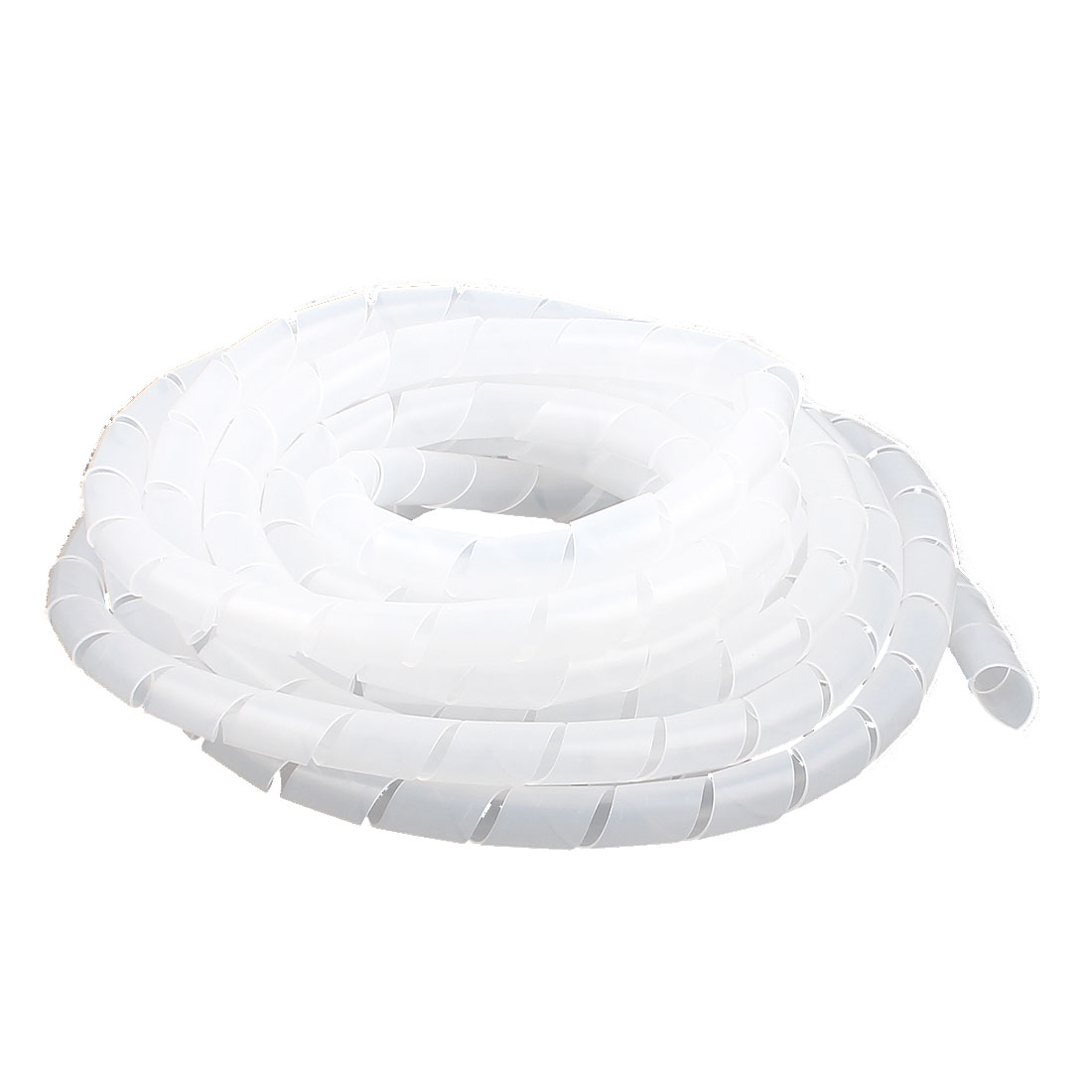 6M Length 12mm Dia Cable Wire Binding Organizer Manager Spiral Wrap Band White